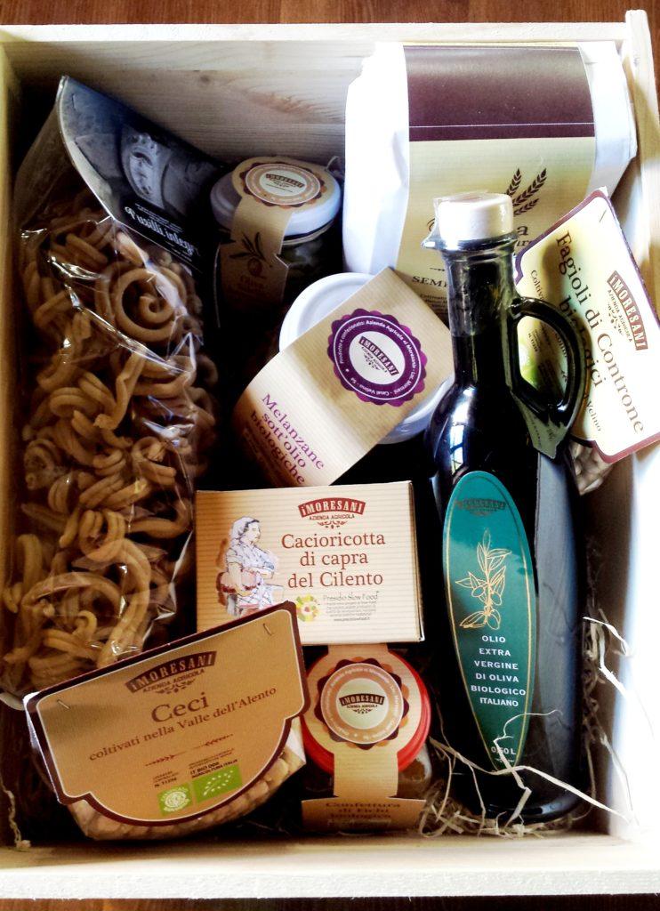 Cesti natalizi con prodotti biologici